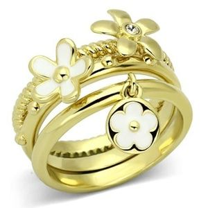 Stackable Flower Ring Set